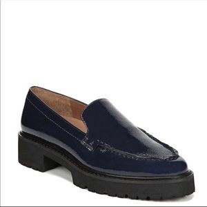 Franco Sarto blue patent leather delana loafer